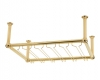 Model OHGR-3 Coated Polished Brass Overhead Bar Glass Rack - ESP Metal Products & Crafts