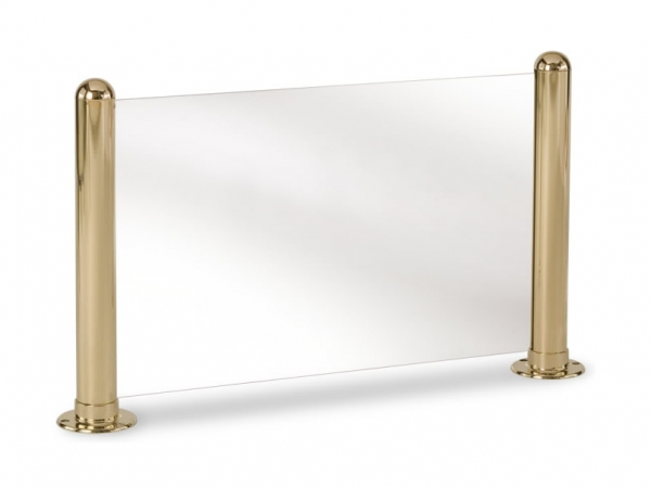 Model P220 Polished Brass Round Partition Posts - ESP Metal Products & Crafts