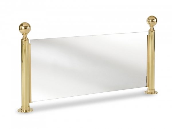 Model P224 Polished Brass Ball-Top Partition Posts - ESP Metal Products & Crafts