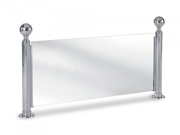 Model P223 Polished Stainless Steel Ball-Top Partition Posts - ESP Metal Products & Crafts