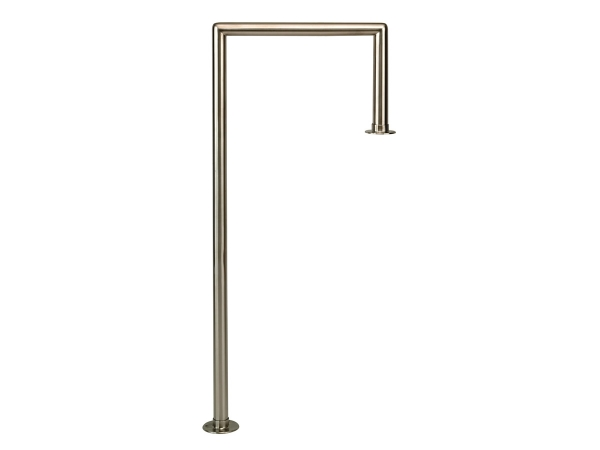 Model W906 Coated Polished Brass Floor-Mounted Service Bar Rail - ESP Metal Products & Crafts