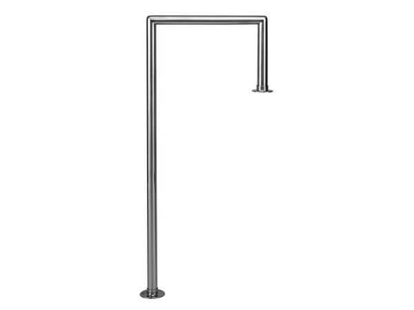 Model W906 Satin Stainless Steel Floor-Mounted Service Bar Rail - ESP Metal Products & Crafts