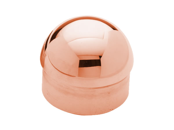 Model 730 Polished Copper Domed End Cap - ESP Metal Products & Crafts